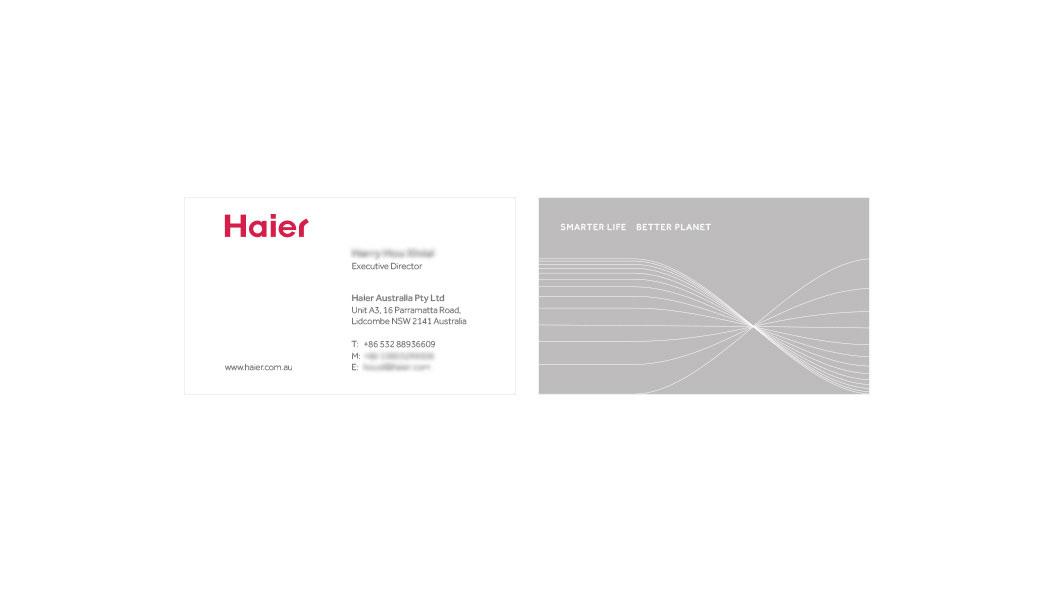 Haier Business Cards - DesignQ - Graphic & Web Design Sydney