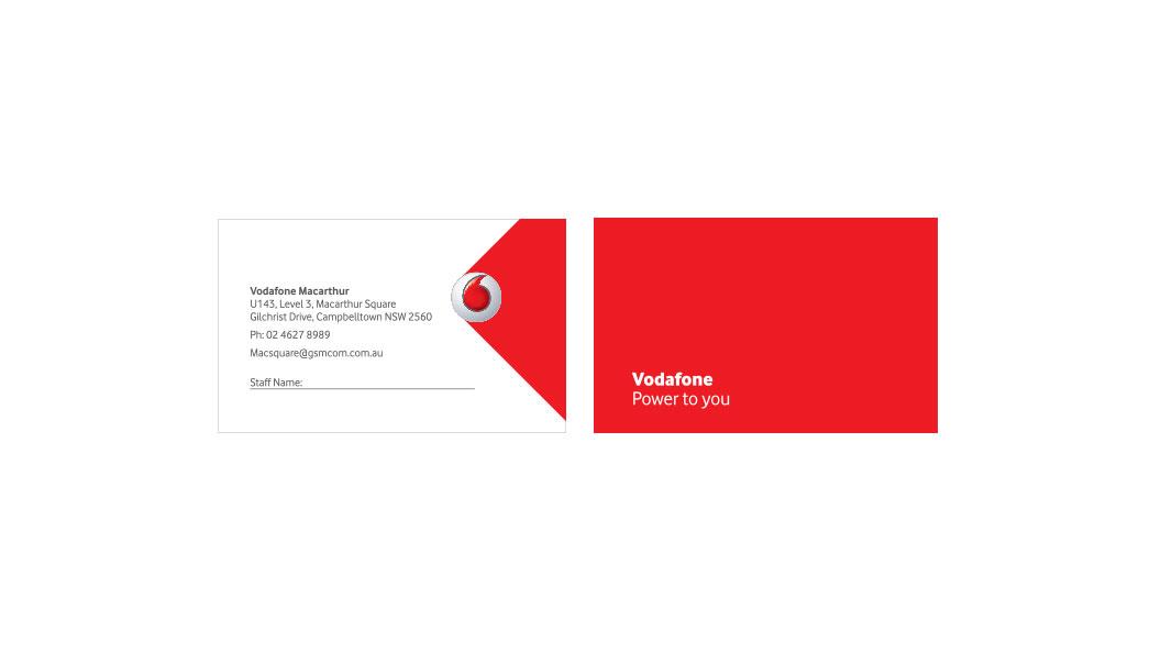 Vodafone business cards designq graphic web design sydney reheart Gallery